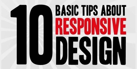 10 Basic Tips About Responsive Design - Infographic | Design Revolution | Scoop.it