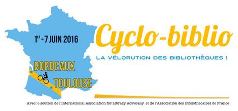 Cyclo-biblio 2016 : du 1er au 7 juin, 50 bibliothécaires sur les routes entre Toulouse et Bordeaux... | Veille professionnelle des Bibliothèques-Médiathèques de Metz | Scoop.it