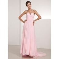 [US$ 147.99] A-Line/Princess Sweetheart Sweep Train Chiffon Bridesmaid Dress With Pleated (020014208) | Alle Gutscheine & Gutscheincodes | Scoop.it
