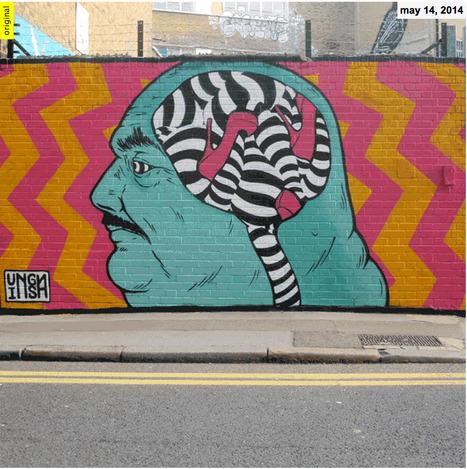 INSA layers STREET ART paintings into animatedgraffiti GIFS  - designboom   architecture & design magazine   Design et graphisme   Scoop.it