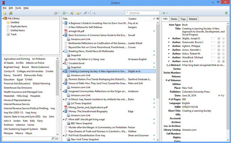 Collect, organize and share your web research sources with Zotero – Passica | Zotero | Scoop.it