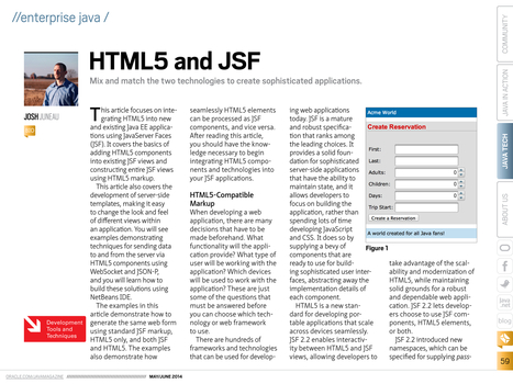 HTML5 and JSF: mix and match the two technologies (Oracle Java Magazine) | Desarrollo WEB | Scoop.it