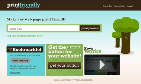 Contar con TIC: Imprimir o crear un PDF de una página web: PrintFriendly | Las TIC y la Educación | Scoop.it