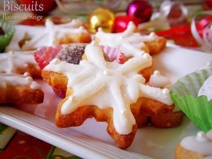 Biscuits de noël flocons de neige | Recettes de fetes | Scoop.it