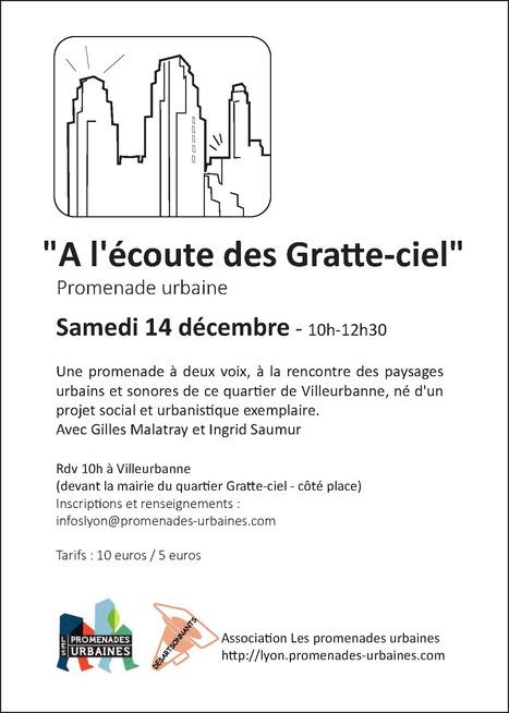 PROMENADE URBAINES À L'ÉCOUTE DES GRATTE-CIEL - VILLEURBANNES - PROMENADES URBAINES/DESARTSONNANTS | Urbanisme vivant | Scoop.it
