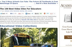 The 100 Best Video Sites For Educators | science in the 21st century | Scoop.it