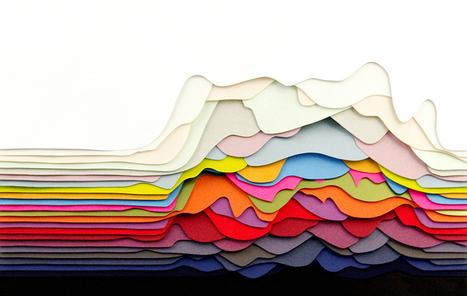 Transfixing 3D Paper Patterns by Maud Vantours | Amazing Paper | Scoop.it
