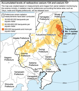 Radiation spread reaches Chiba, Saitama prefectures - AJW by The Asahi Shimbun | Mapping & participating: Fukushima radiation maps | Scoop.it