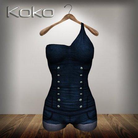Realizm Denim Short Jumpsuit by Koko   Teleport Hub   Second Life Freebies   Scoop.it