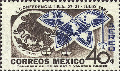 1964 Mexican postage stamp features unusual map projection | Geography Education | Scoop.it