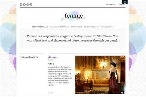 Femme is a great e-shop WordPress Theme by cssigniter.com | WP Daily Themes | Free & Premium WordPress Themes | Scoop.it