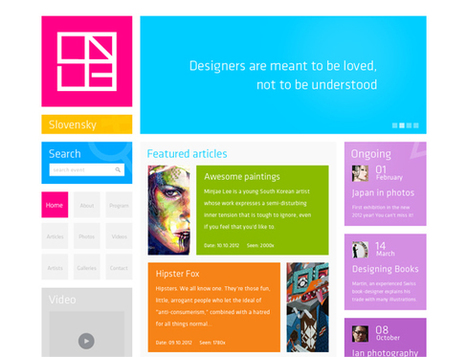 Tendance du webdesign : Windows 8/Metro UI | WebdesignerTrends | WebDesign - User experience | Scoop.it