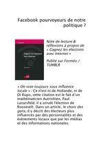 Facebook, pourvoyeur de notre politique? | Vote des étrangers - Belgique | Scoop.it