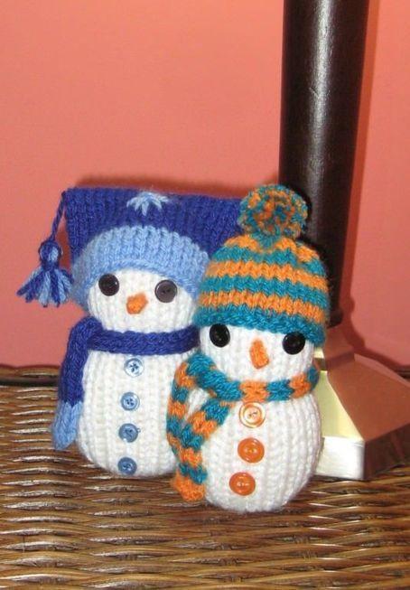 Cómo tejer muñecos de nieve | Teje-Lola | Scoop.it