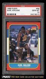 1986 Fleer Basketball Karl Malone Rookie RC 68 PSA 10 Gem Mint PWCC | eBay | The Hottest PSA 10 Sports Cards on eBay | Scoop.it