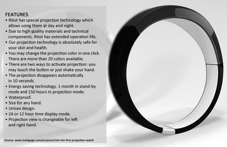 The Innovative Ritot Projection Watch | Tech Goddess | Scoop.it