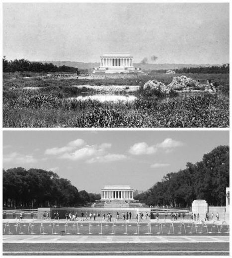 The Lincoln Memorial in 1917 and 2016 | DisruptiveDC | Scoop.it