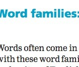 Cambridge Dictionary - Word Families, Building Possibilities | ESL Reading and Vocabulary Resources | Scoop.it
