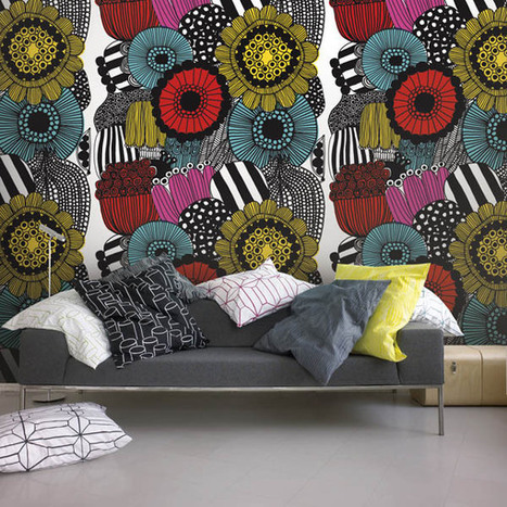marimekko iii murals blog velvet tissu d 39 a. Black Bedroom Furniture Sets. Home Design Ideas