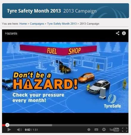 TYRE SAFETY-New TyreSafe animation released : Tyrepress | Tyre Safety | Scoop.it