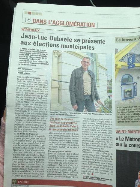 Twitter / PourWimereux: Notre candidat JEAN-LUC DUBAELE ... | Ensemble Pour Wimereux | Scoop.it