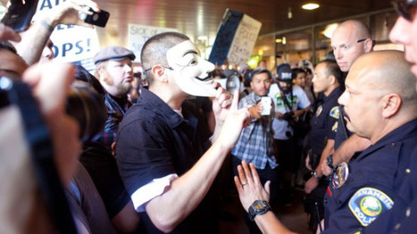 Social Media Pictures of Yesterday's Protest in Anaheim | Community Village Daily | Scoop.it