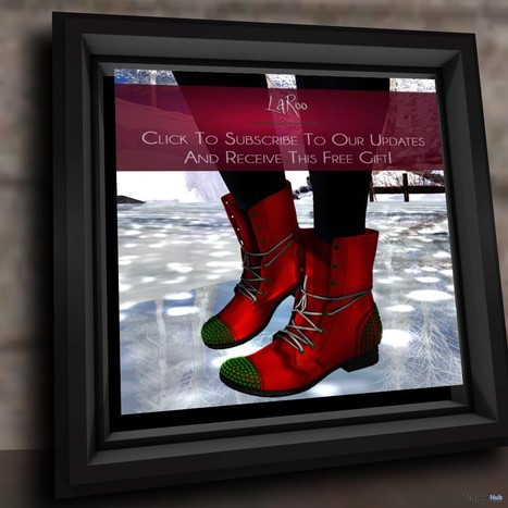 Red Boots Subscriber Gift by LaRoo | Teleport Hub - Second Life Freebies | Second Life Freebies | Scoop.it