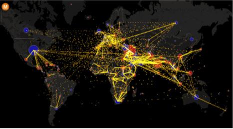 En GIF, la carte du monde des MIGRATIONS a tout d'une fourmilière | Machines Pensantes | Scoop.it