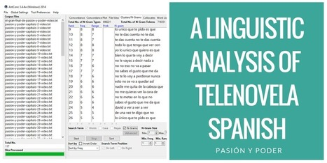 A Very Informal Corpus Linguistic Analysis of Telenovela Spanish | Applied Corpus Linguistics to Education | Scoop.it