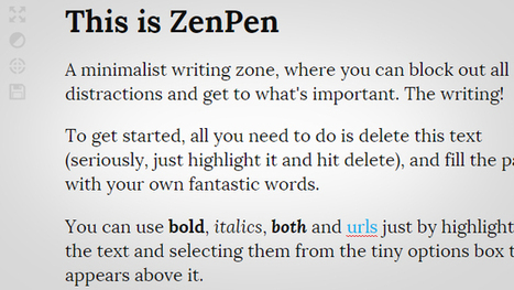 ZenPen is a Dead Simple, Distraction Free Writing Zone on the Web | Digital-News on Scoop.it today | Scoop.it