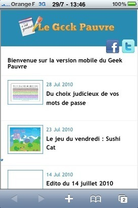 Onbile : une version mobile de votre site internet | Au fil du Web | Scoop.it