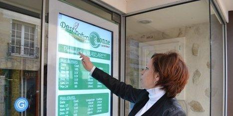 Une vitrine tactile à l'office de tourisme du Cadillacais et du Langoirannais cofinancée par le fonds européen leader | Fonds européens en Aquitaine | Scoop.it