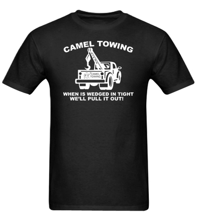 Camel Towing Adult Humor Rude Tow Truck Men Adult T-Shirt | ClothTshirt - Clothing on ArtFire | Cheap Black T-Shirt And Tank Top | Scoop.it