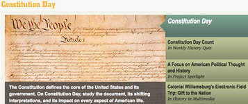 Constitution Day 2012: Founding Documents | Teachinghistory.org | Constitution Day for Elementary | Scoop.it