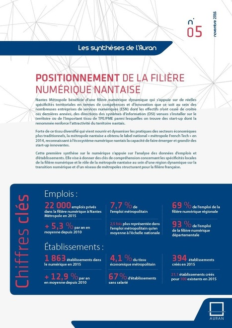 La filière numérique nantaise - Les synthèses de l'Auran | Orientation Parcours Métiers | Scoop.it