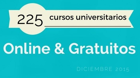 225 cursos universitarios, online y gratuitos que inician en diciembre | Educación Virtual UNET | Scoop.it