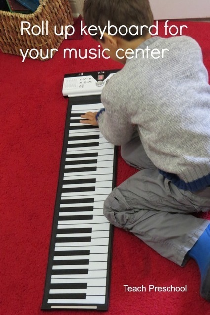 Roll up piano keyboard for the music center | Teach Preschool | Scoop.it