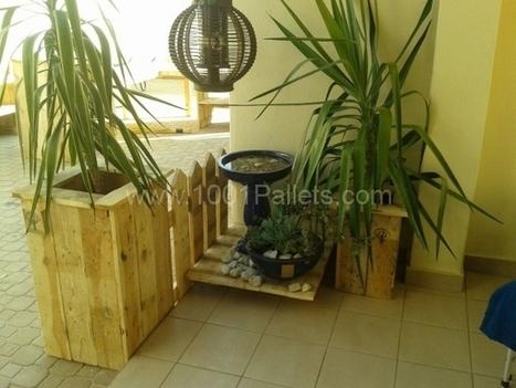 Pallet garden: Planter & stools | 1001 Pallets | Homesthetics | Scoop.it