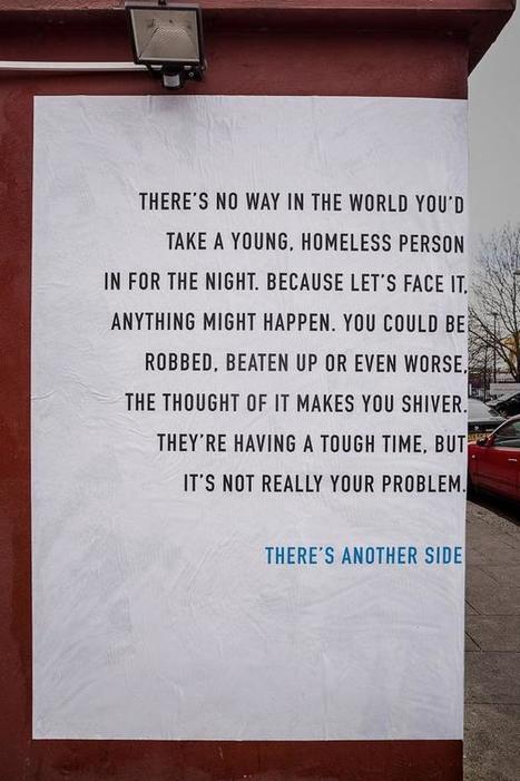 Un affichage à double sens qui sensibilise à la cause des sans-abris I@creapills   Citizen Com   Scoop.it