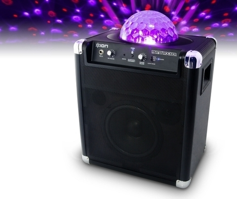 Ion Party Rocker portable speaker system projects cool lights matching the beat | DamnGeeky | DamnGeeky | Scoop.it