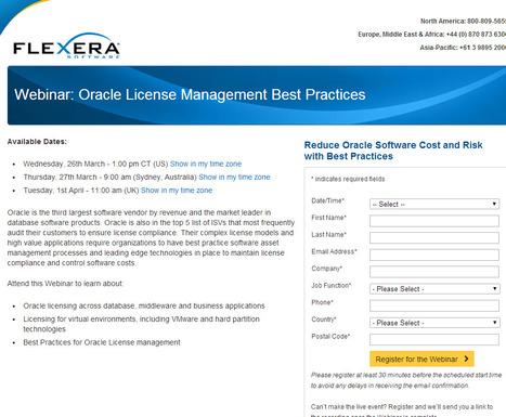 Flexera Software Webinar - Oracle License Management Best Practices | ITAM | Scoop.it