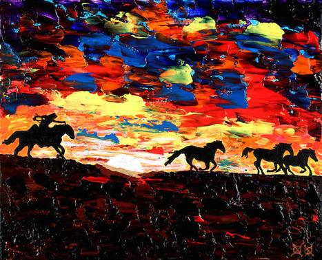 Blind Painter Relies on Touch and Texture to Create Stunningly Vivid Paintings | Le It e Amo ✪ | Scoop.it