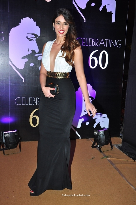 Ileana wearing a White and Black Gown at Superstar Chiranjeevi's 60th Birthday Celebrations | Indian Fashion Updates | Scoop.it