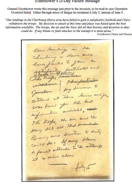 Primary Doc. #3: Eisenhower's D-Day Failure Message | Dwight D. Eisenhower | Scoop.it