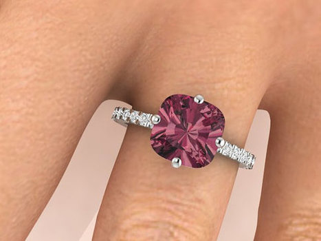 Engagement ring, Modern Wedding rings, Unique ring, Her dream ring, Garnet ring, Modern Solitaire rings, Promise ring, Anniversary gift | Unique Christmas Gift Ideas | Scoop.it
