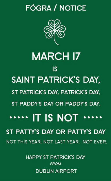 Irish Airport Really, REALLY Wants People to Spell St. Patrick's Day ... | Airline Branding | Scoop.it