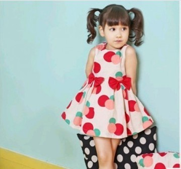 Attractive White Polka Dots Baby Printed Dress for Summer in India | Online Baby Accessories | Scoop.it