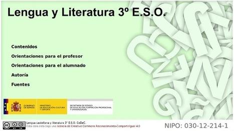Contenidos completos para Lengua Castellana y Literatura en Secundaria | Educación 2.0 | Scoop.it