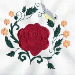 Roses And Birds Circles - Embroidery Designs | embroidery | Scoop.it