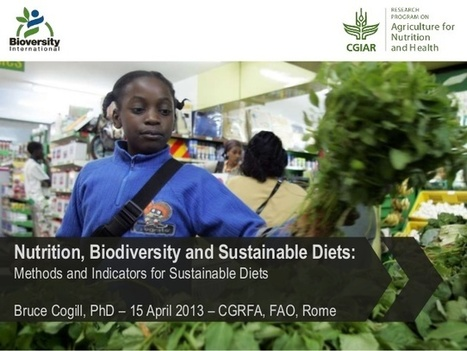 Nutrition, Biodiversity and Sustainable diets: Methods and Indicators for Sustainable Diets | Ngoding | GarryRogers Biosphere News | Scoop.it